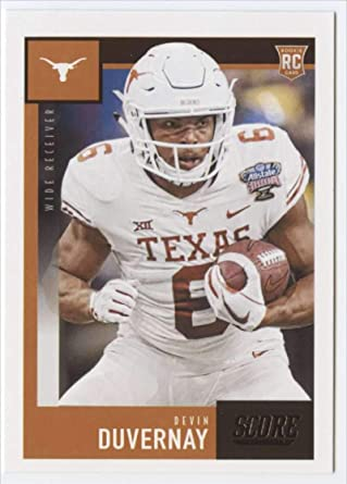 Amazon Com 2020 Score Football 420 Devin Duvernay Rc Rookie Texas Longhorns Official Nfl Trading Card Made By Panini America Collectibles Fine Art