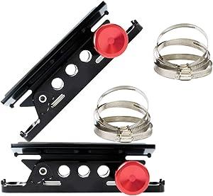 AUFER 2PCS Vehicle Universal Roll Bar Bottle/Fire Extinguisher Holder Mount for Jeep Wrangler UTV Polaris RZR Can Am,Adjustable, Aluminum