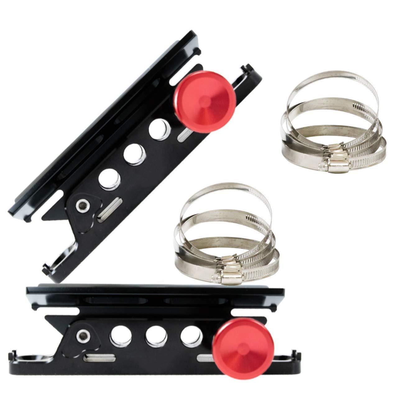AUFER 2PCS Vehicle Universal Roll Bar Bottle/Fire Extinguisher Holder Mount,Adjustable, Aluminum by AUFER