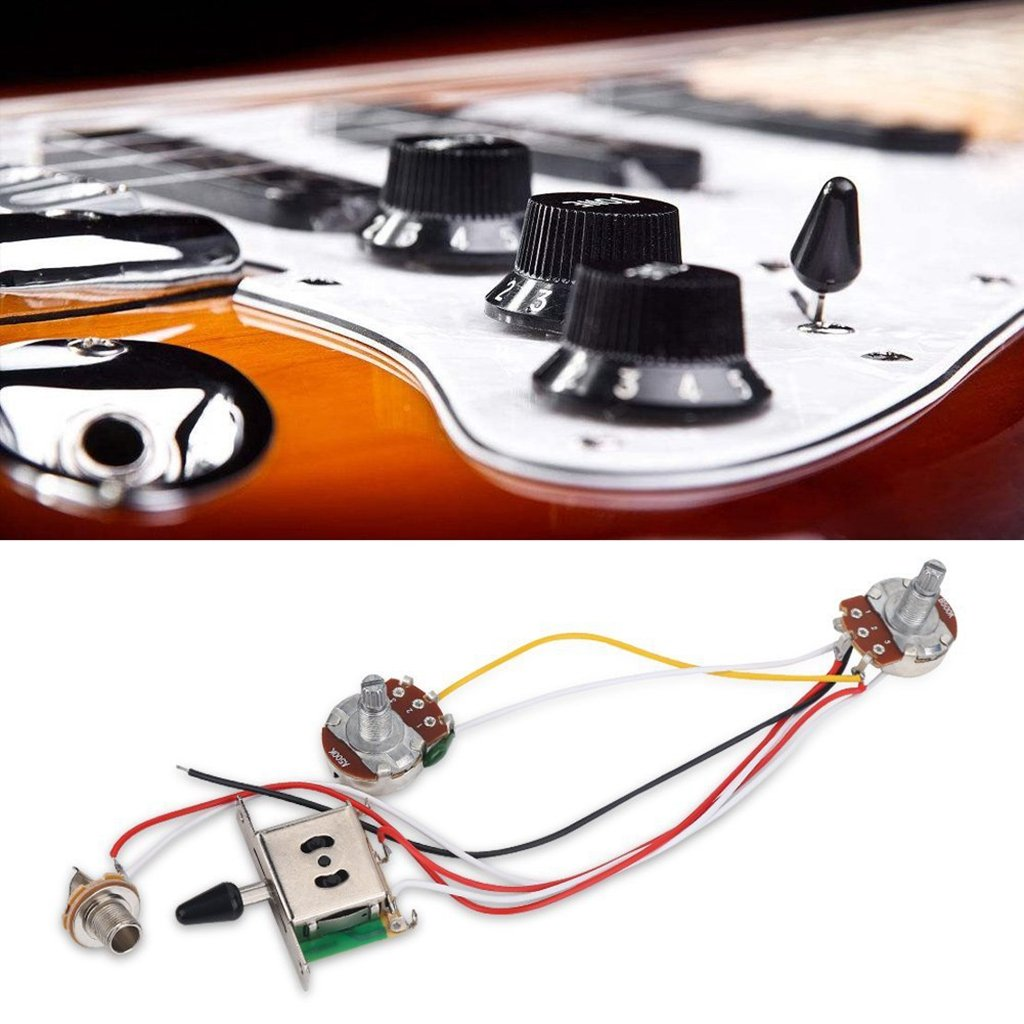 Dovewill Electric Guitar Parts Accessories Wiring Harness 3 Way Wire Toggle Switch Pot Volume Tone Christmas Presents