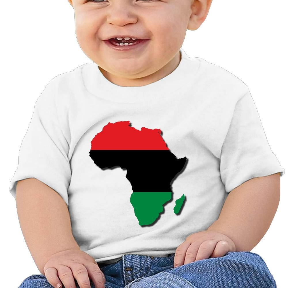 REBELN A Flag Map of African Cotton Short Sleeve T Shirts for Baby Toddler Infant