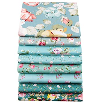 8 piezas de 40 cm x 50 cm, tela de algodón superior para acolchar cojines de patchwork, almohadas, material de costura, álbumes de recortes, ropa de ...