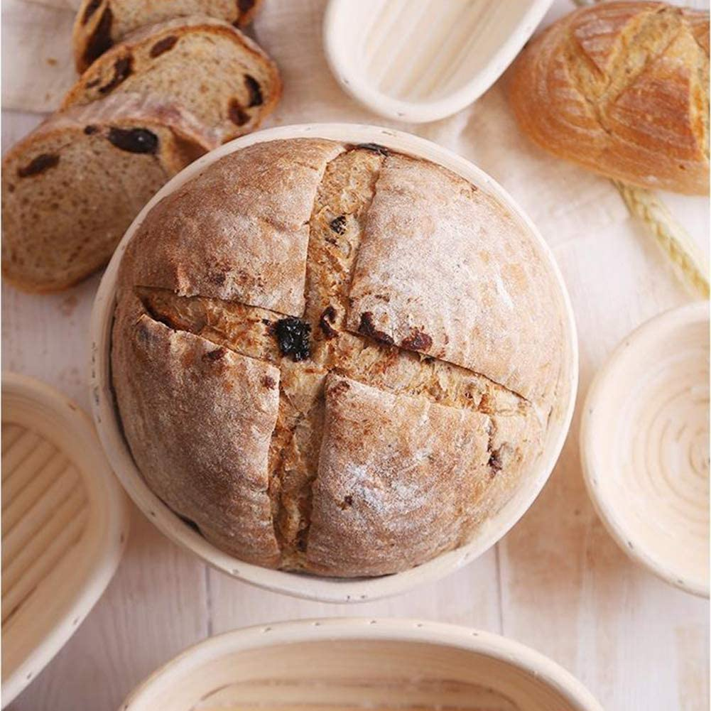 UNKC Cesta de Pruebas 13 Lo Esencial de los panaderos 9 cm Redondo Banneton Brotform Cuenco de rat/án para Masa de Pan para panaderas Profesionales /φ 5.1