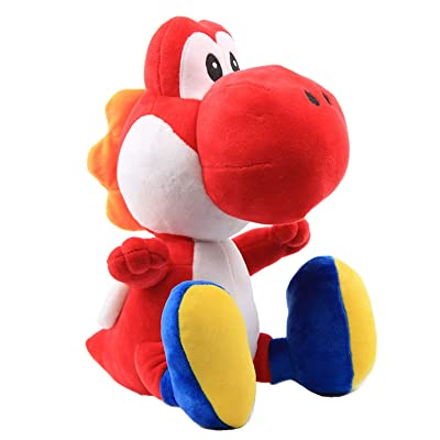 "UiUoU Super Mario Bros. 12"" Red Yoshi Stuffed Plush: Toys & Games"