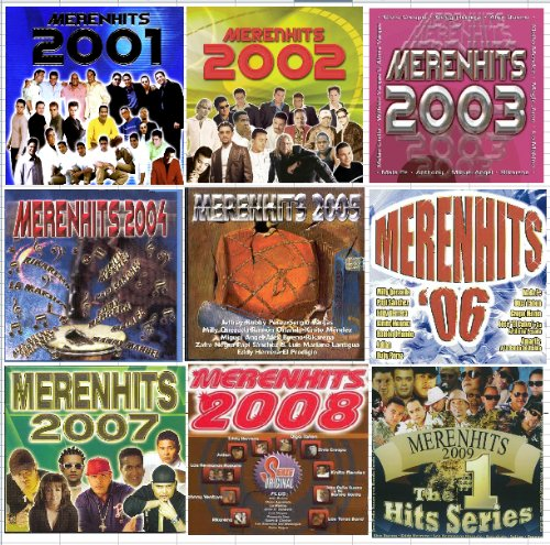9 Different CD's MERENHITS 2001 - 2009 by Sony / J&N
