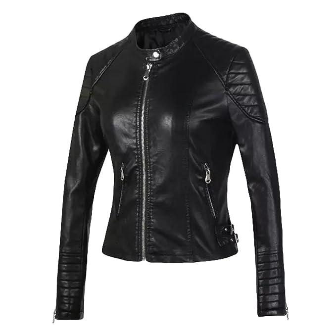 giacca finta pelle motociclista donna