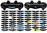 eXtremeRate 60 Pcs/Set Custom Game Light Bar Vinyl Stickers Decal Led Lightbar Cover for Sony Playstation 4 Dualshock 4 PS4 PS4 Slim PS4 Pro Controller skins