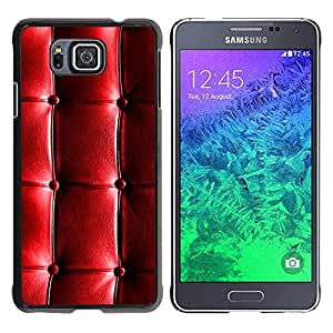 Paccase / SLIM PC / Aliminium Casa Carcasa Funda Case Cover para - Pattern Leather Shiny Wrinkles Wrinkly - Samsung GALAXY ALPHA G850