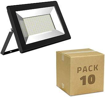 LEDKIA LIGHTING Pack Foco Proyector LED Solid 10W (10 un) Blanco Frío 6000K: Amazon.es: Iluminación