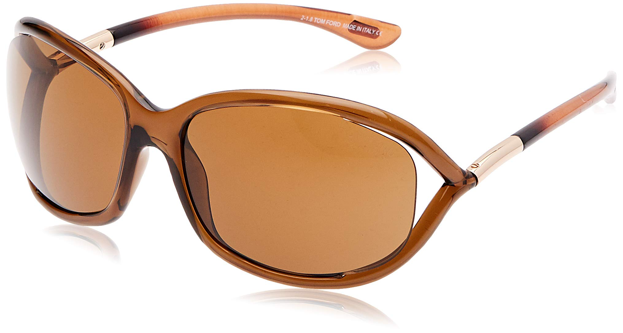 Tom Ford Jennifer FT0008 Sunglasses-48H Brown (Brown Lens)-61mm by Tom Ford