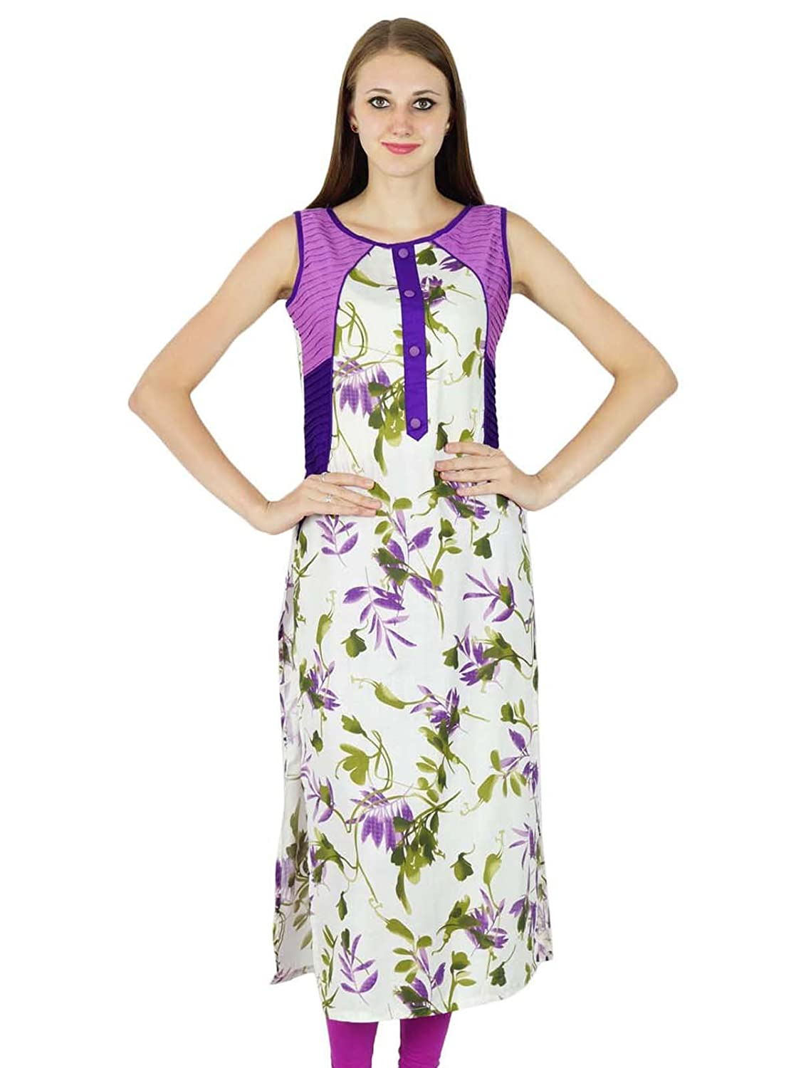 Phagun Designer Bollywood Ethnic Kurta Women Cotton Printed Kurti Casual Tunic Dress
