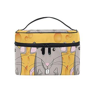 Amazon.com : Cute Cartoon Mouse Makeup Bag for Women Cosmetic Bag Toiletry Train Case : Beauty