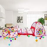 Meigirlxy Tiendas de campaña para niños, Pop Up Tienda de Juegos Plegable con Casita Infantil, Tunel Infantil, Piscina…