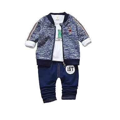 3820cc435db44 Gyratedream Ensemble de Vêtements pour Bébé Garçon Fille Survêtements Coton  T-Shirt + Vêtements de