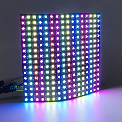 WS2812b Pixel Matrix,CHINLY 16x16 256 Pixels WS2812B Digital Flexible LED Panel Programmed Individually addressable Dream Screen DC5V