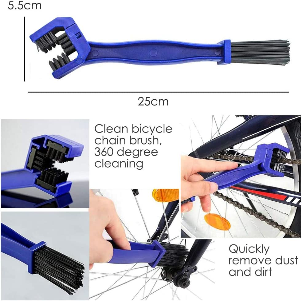 kit de cepillo limpio para bicicleta para cadena de bicicleta//neum/ático//pi/ñ/ón de ciclismo esquina manchas suciedad limpia Juego de herramientas de limpieza de bicicletas