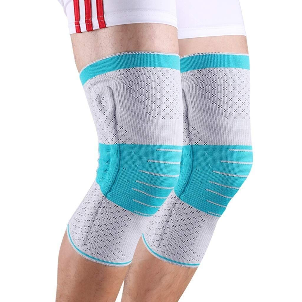Knee Pads - Knee Compression Sleeves, Non-Slip Breathable, Knee Pads, Running/Mountain Climbing/Weight Lifting/Basketball, Unisex, 1 Pair (Size : M)