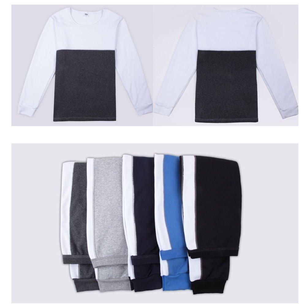011456e4186 Zhhlaixing Ropa de Dormir para Hombre Mens Warm Fleece Lined Thicken Outdoor  Work Winter Thermal Underwear Set Father Boyfriend Gift Top & Bottom: ...
