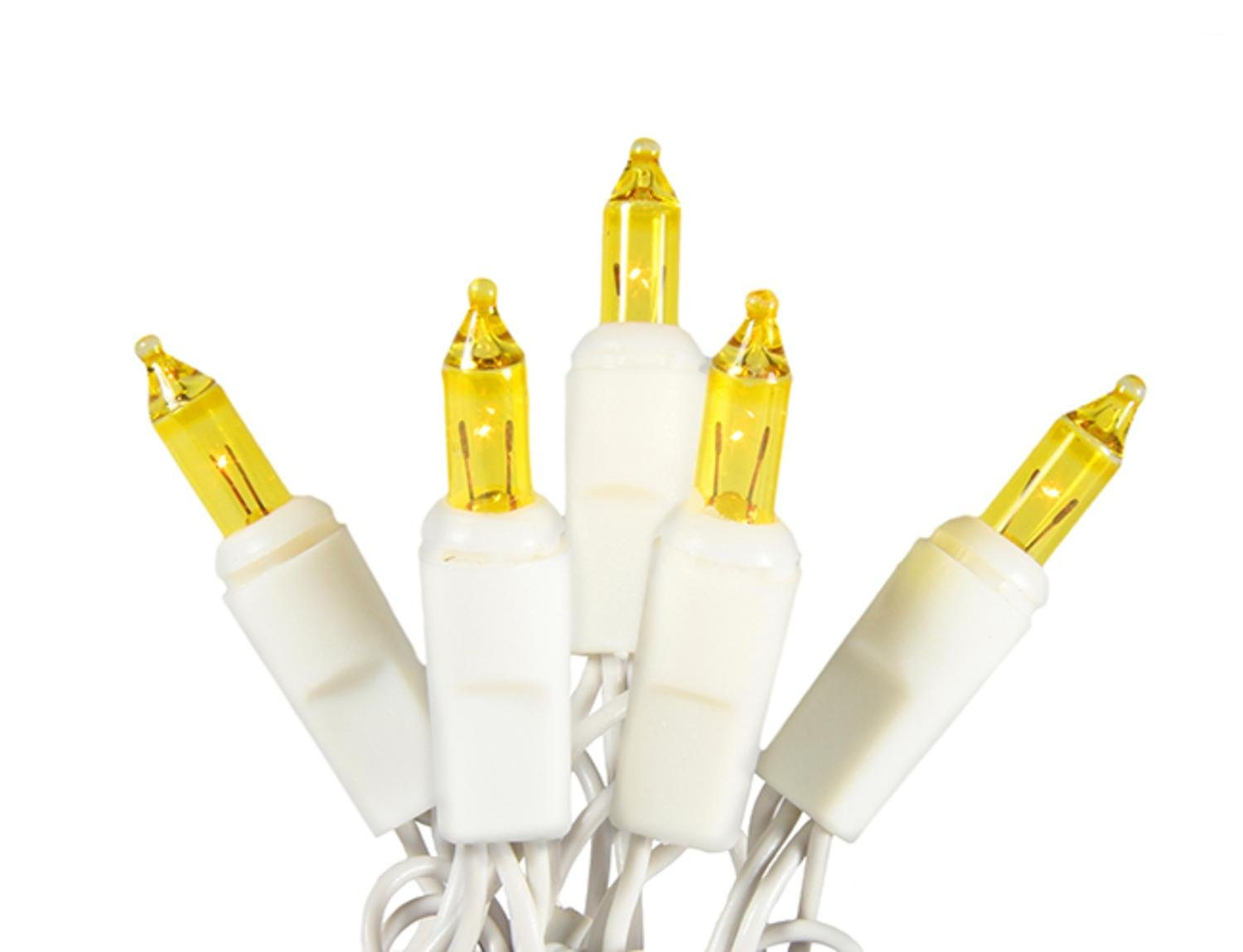 Sienna Set of 20 Battery Operated Gold Mini Christmas Lights - White Wire
