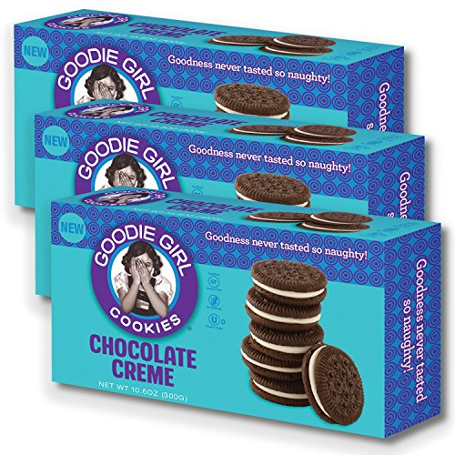 Goodie Girl Cookies Chocolate Creme Cookies, Peanut Free and Gluten Free Delicious Snack Cookies (10oz Box, Pack of 3) (Chocolate Creme) Kids Creme