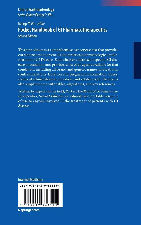 Buy Pocket Handbook of GI Pharmacotherapeutics (Clinical