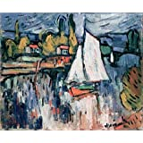 Canvas Prints Of Oil Painting ' View Of The Seine,1906 By Maurice De Vlaminck ' , 18 x 22 inch / 46 x 55 cm , Polyster Canvas Is For Gifts And Home Office, Home Theater And Study Room Decoration, diy