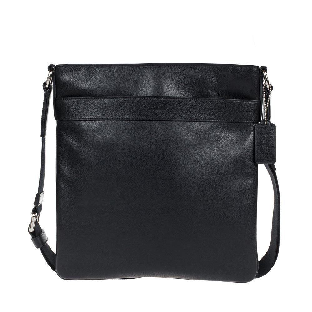 Coach men's cross body messenger leather bag F54780 BLK by Coach