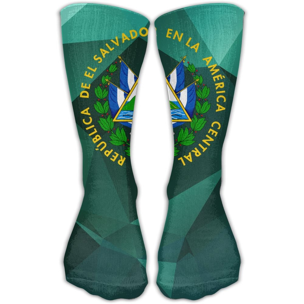 Design Coat Of Arms Of El Salvador Stylish Art Knee High Socks For Women &Girl