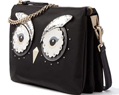 69774e8a2 Image Unavailable. Image not available for. Color: Kate Spade Star Bright  Owl Madelyne Crossbody Handbag Black