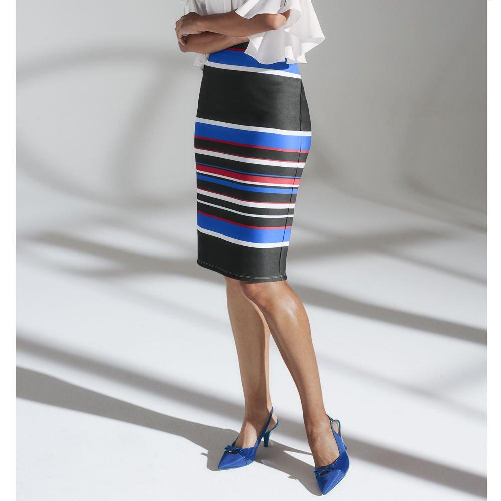 Masseys Multi-Colored Stripe Skirt