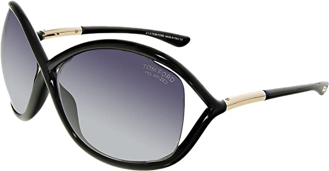 9858bb2ba68 Amazon.com  Tom Ford TF 9 Whitney 01D Black Women s Polarized ...