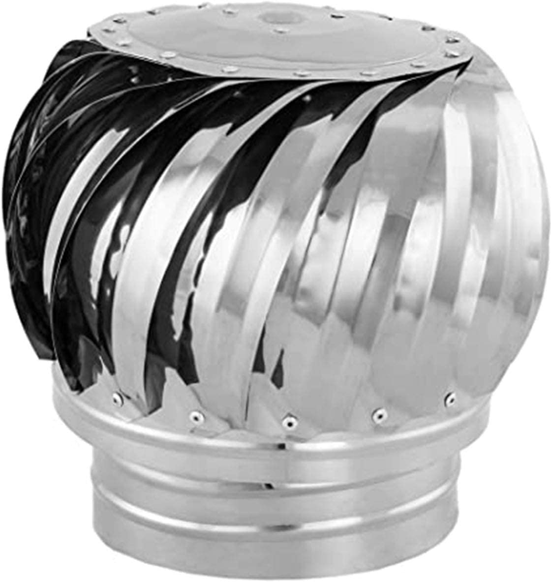 FZYE Tapa giratoria para Chimenea, Acero Inoxidable 304, Tapa de ventilación, giratoria giratoria, antivaho, se Adapta a la mayoría de Las chimeneas estándar con Abrazadera, 110 mm