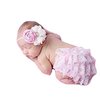 Miugle Newborn Baby Girls Headbands with Bows