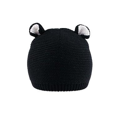 ce4015aac mimixiong Newborn Baby Knit Hat Crochet Cartoon Bear Ears Warn ...