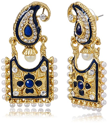 Aheli Drop Earrings for Women (Blue) (A1EJP96)