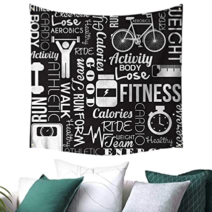 Amazon Luckyee Fitness Square Tapestry Active Life