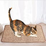 OSPet Sisal Cat Scratching Mat Scratch Post Cat Litter Mat for Cat / Kitty Grinding Claws & Protecting Furnitures