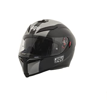 AGV K5 Naked Casco de Moto, Color negro y plateado, talla ...