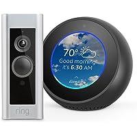 Amazon Echo Spot Bluetooth Speaker + Ring Video Doorbell