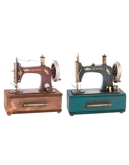 Maquina de coser de metal para decoración - Edición France - Hogar y más