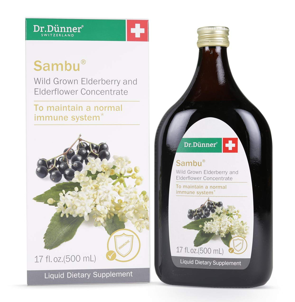 Dr. Dunner Sambu Black Elderberry Syrup, 17 fl oz, Non-GMO