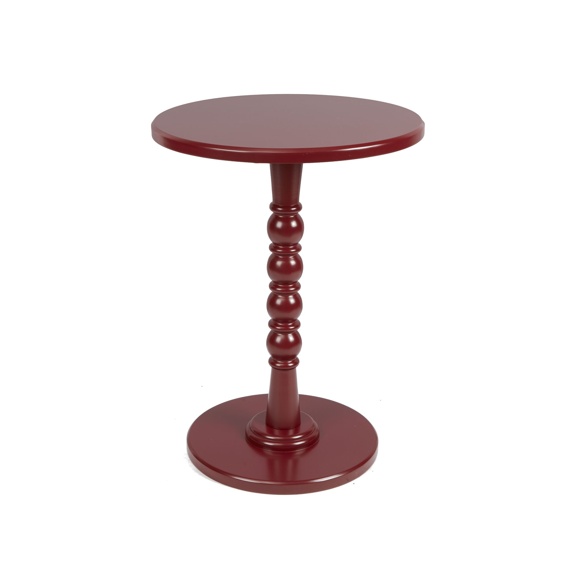 Silverwood FT1285 Elise Turned Pedestal Table, Red