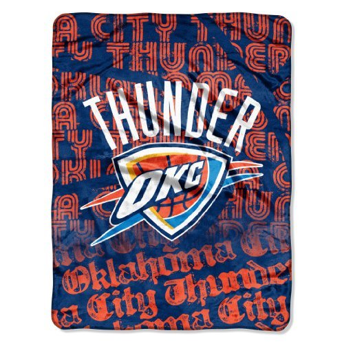 Nba Micro Raschel Blanket - NBA Oklahoma City Thunder Redux Micro Raschel Throw Blanket, 46x60-Inch
