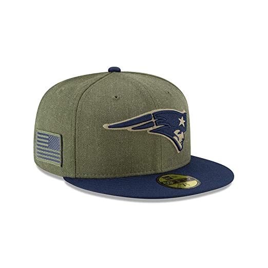 New Era New England Patriots On Field 18 Salute to Service Cap 59fifty 5950  Fitted Limited 12385ab55264