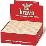 100 libretti di cartine BRAVO REX corte singole