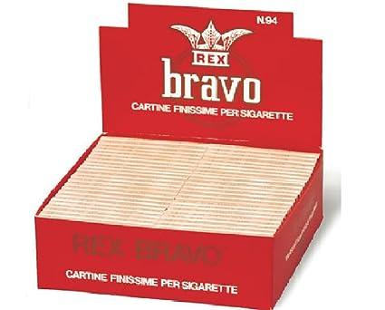 cartine bravo rex  100 libretti di cartine BRAVO REX corte singole: : Salute e ...