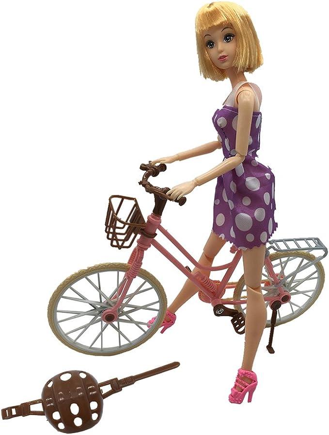 Amazon.es: BeHonouring - Bicicleta de muñeca para Barbie ...