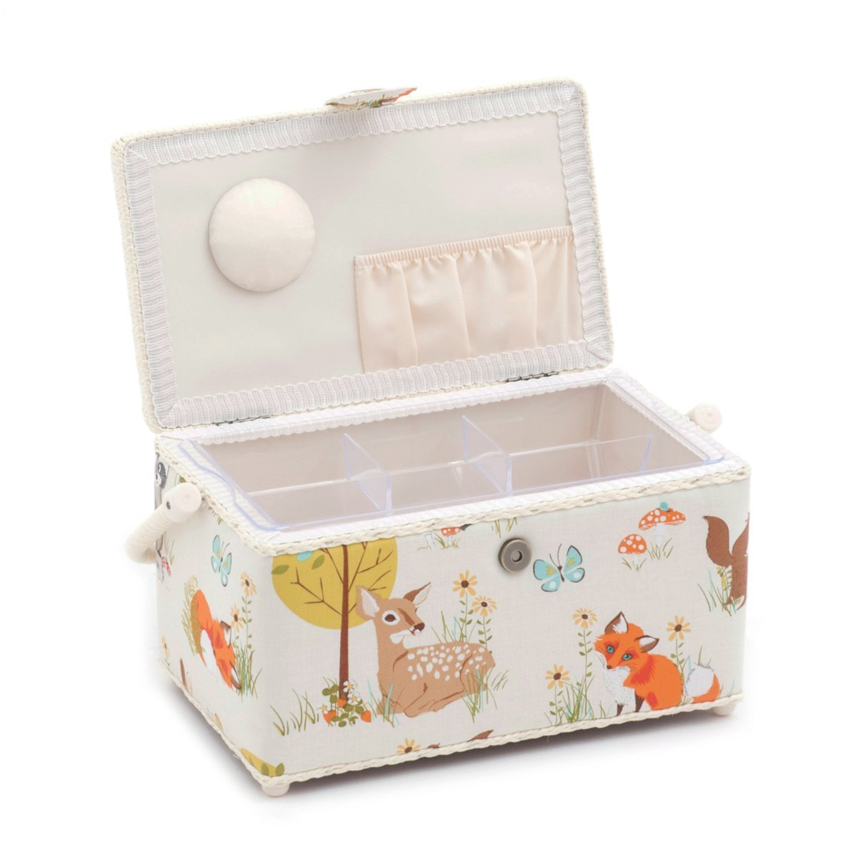 Hobby Gift Woodland Deep Rectangle Sewing Box 15 x 30 x 17cm d//w//h