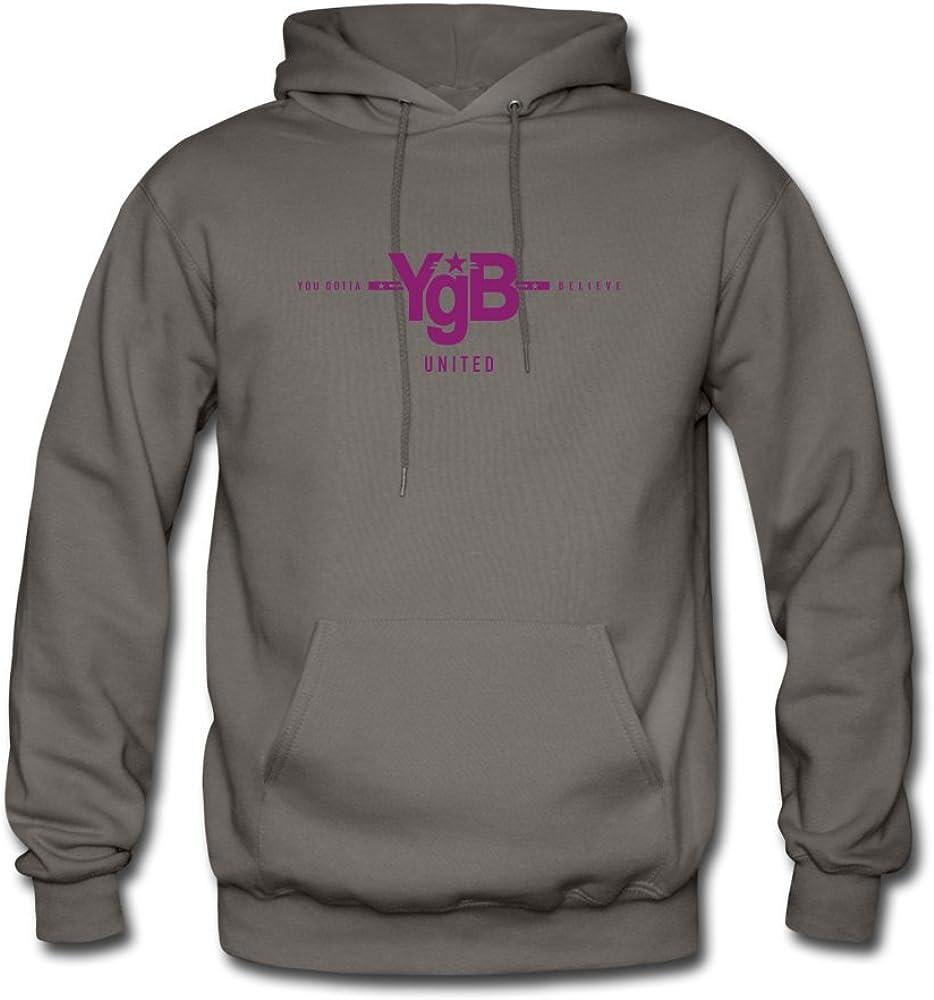 ATHLETE ORIGINALS Mens Hoodie by YgB United United You Gotta Believe in Purple Digital Print L Asphalt