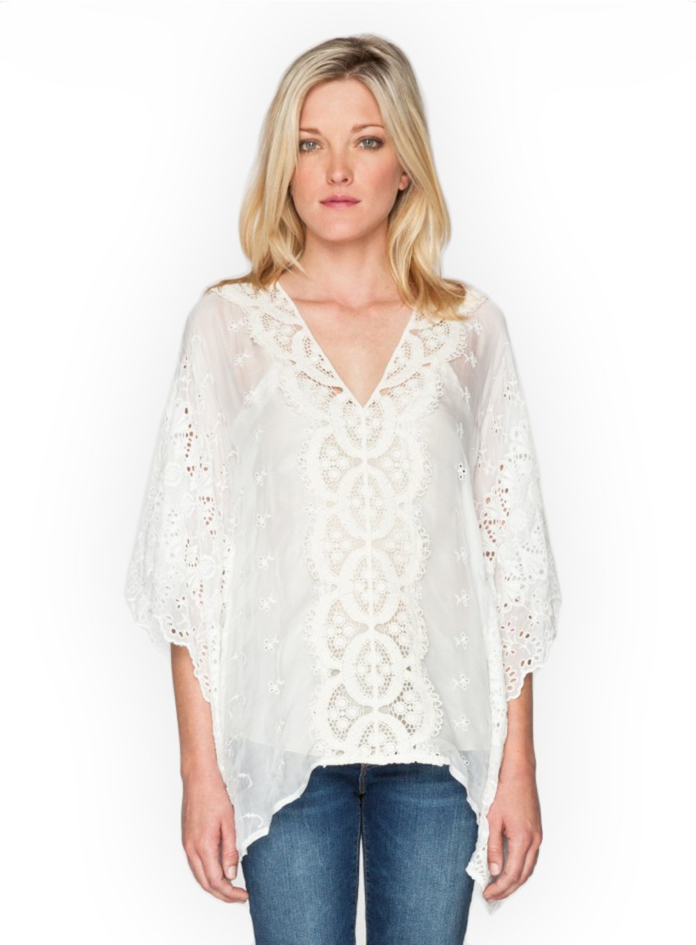 4 Love and Liberty by Johnny was White Katherine Poncho